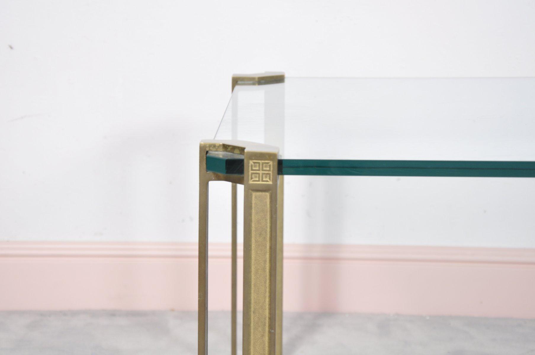 Glas & Messing Couchtisch von Peter Ghyczy bei Pamono kaufen