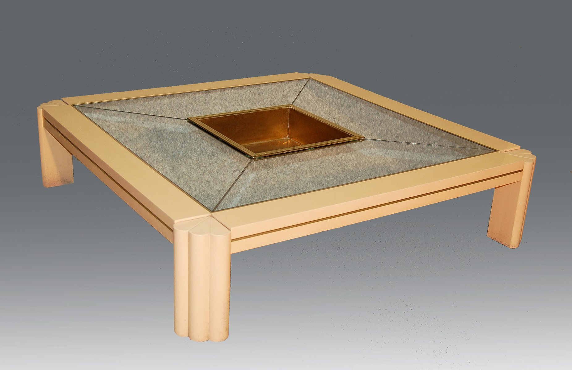 Vintage Coffee Table by Alain Delon for Maison Jansen for sale at