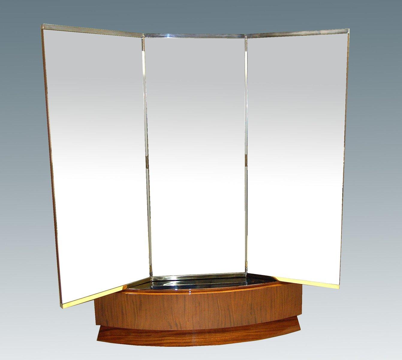 art deco mahagoni messing spiegel 1930er bei pamono kaufen. Black Bedroom Furniture Sets. Home Design Ideas