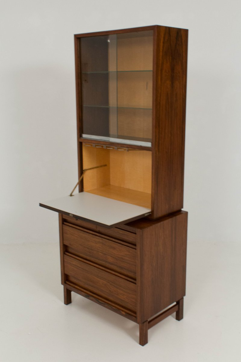 Mid Century Dutch Rosewood Wine Cabinet 1960s For Sale At