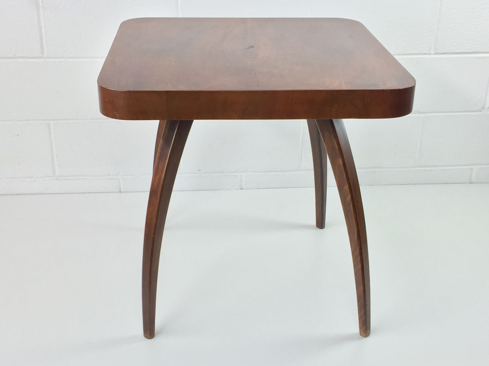 Czech H 259 Spider Walnut Coffee Table by Jindrich Halabala for UP