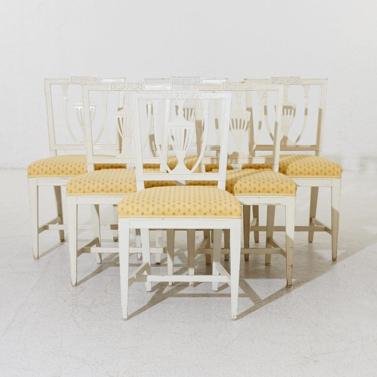 19th Century Swedish Gustavian Chairs Set of 6 for sale at Pamono
