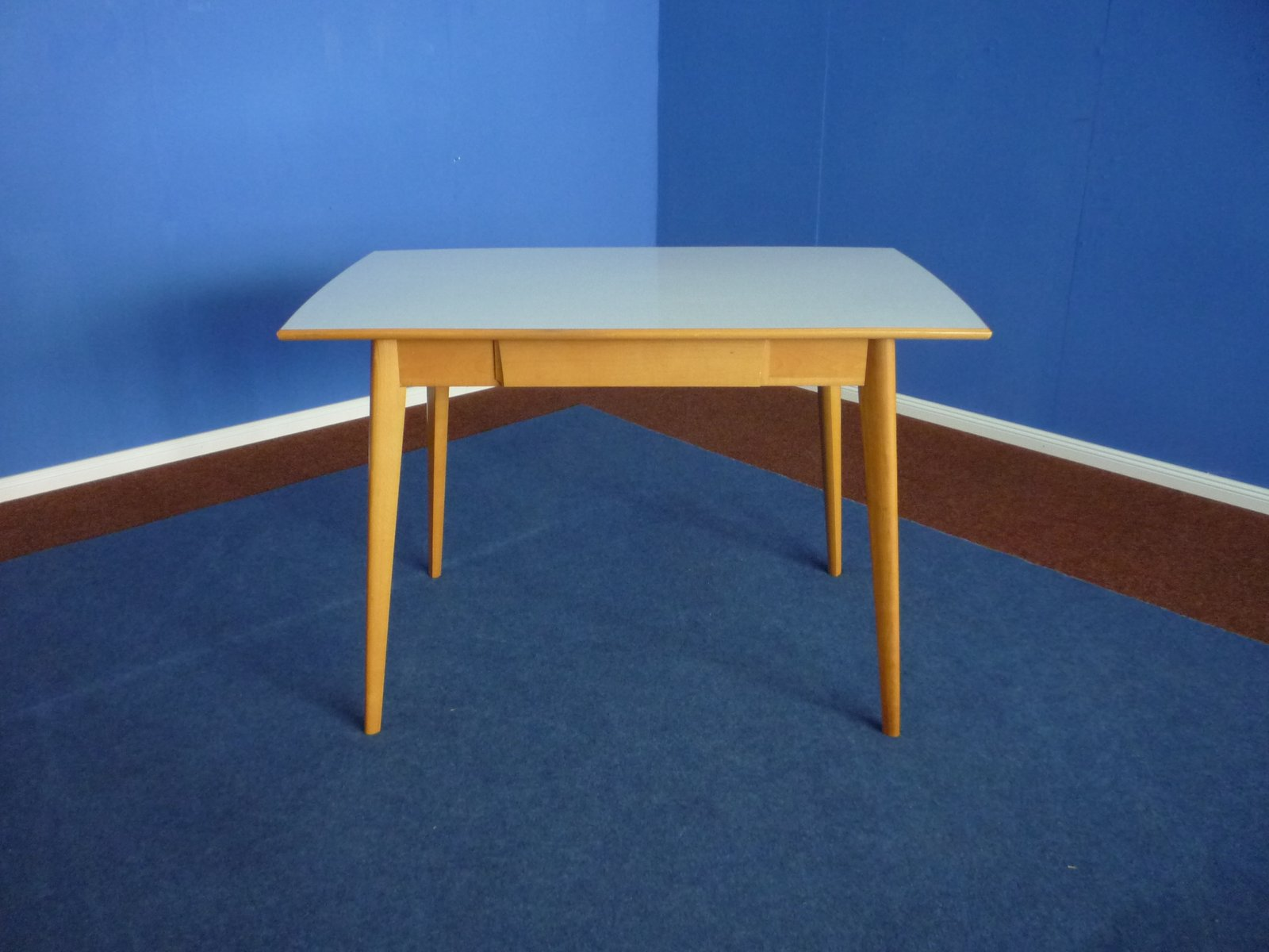 Lovely Formica U0026 Beech Kitchen Table, 1950s