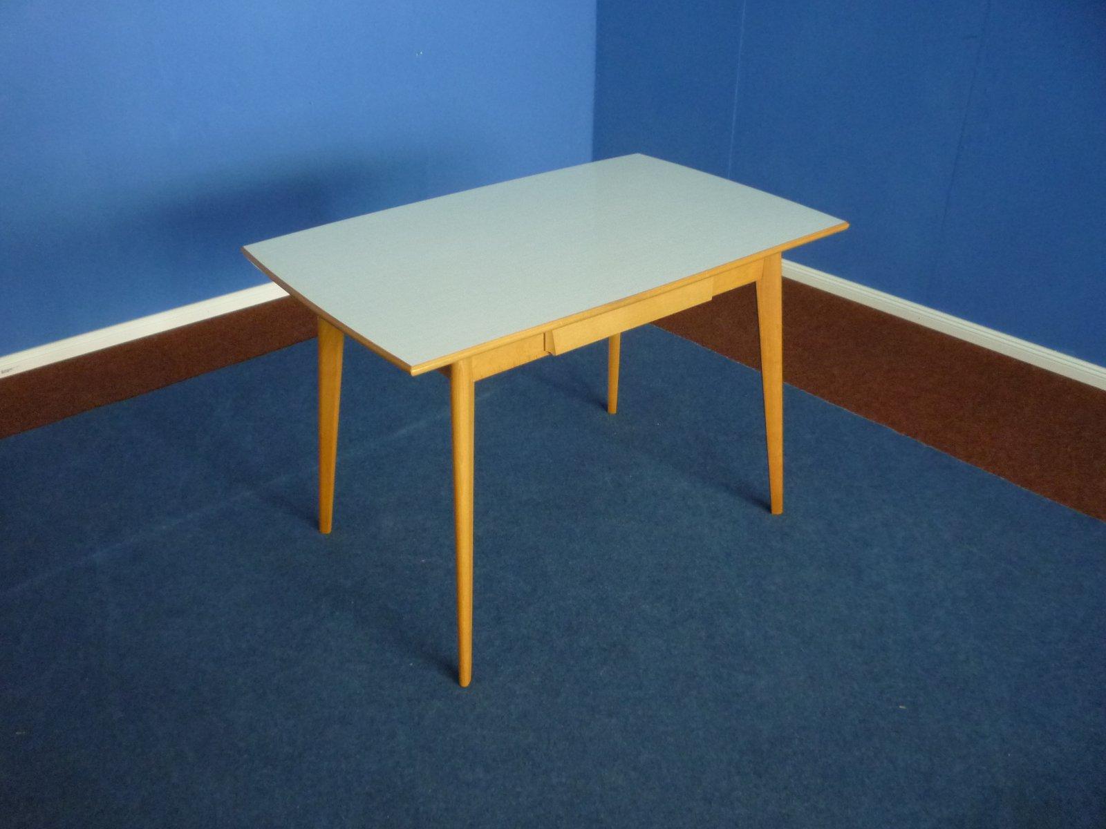 Tavolo da cucina in formica e faggio, anni \'50 in vendita su Pamono