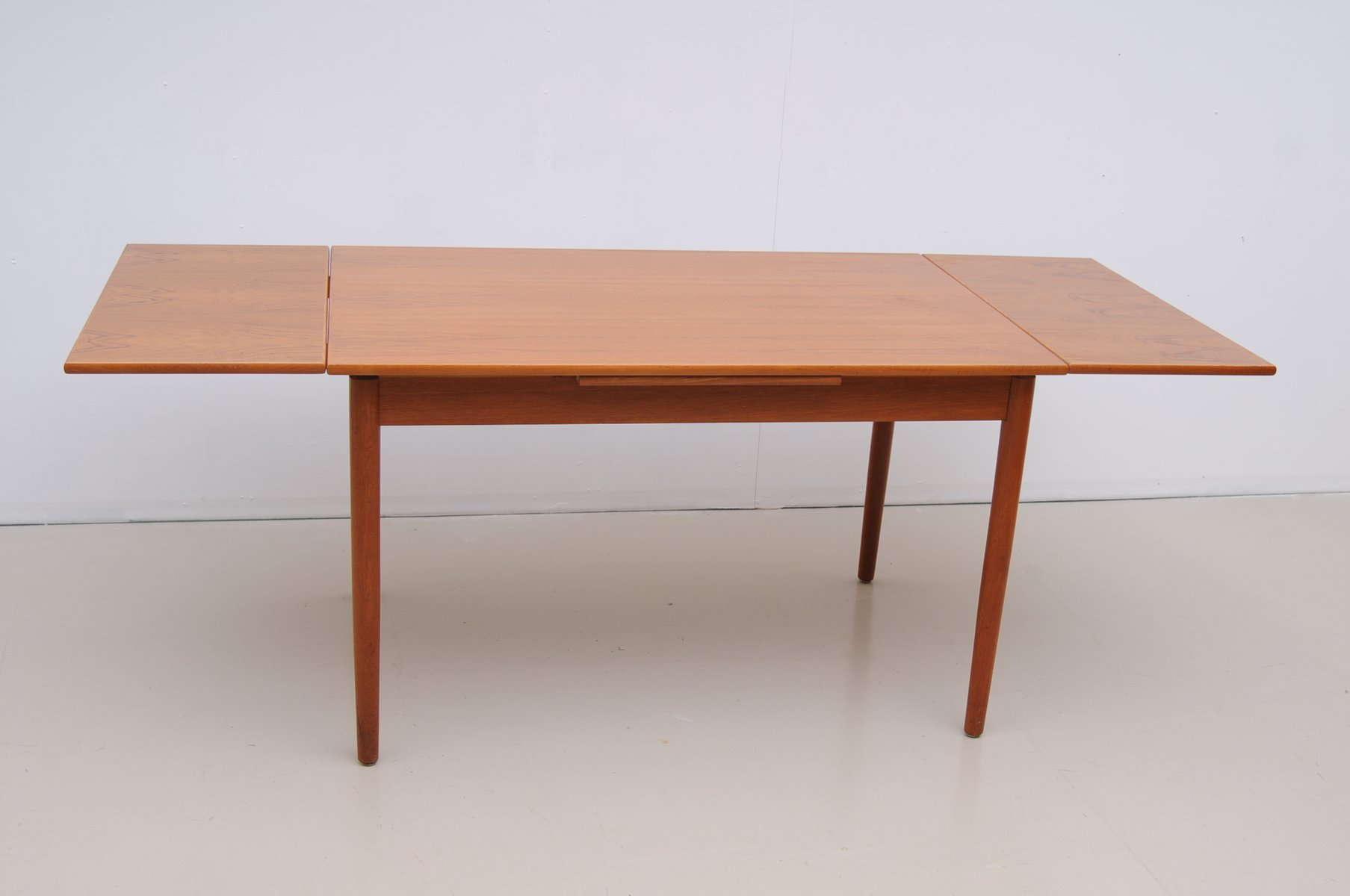 Danish Teak Dining Table With Two Extensions 1960s For