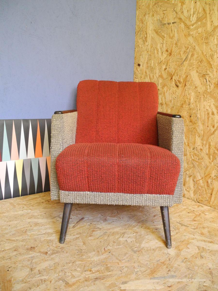 Sessel in rot grau 1950er 2er set bei pamono kaufen for Sessel in rot