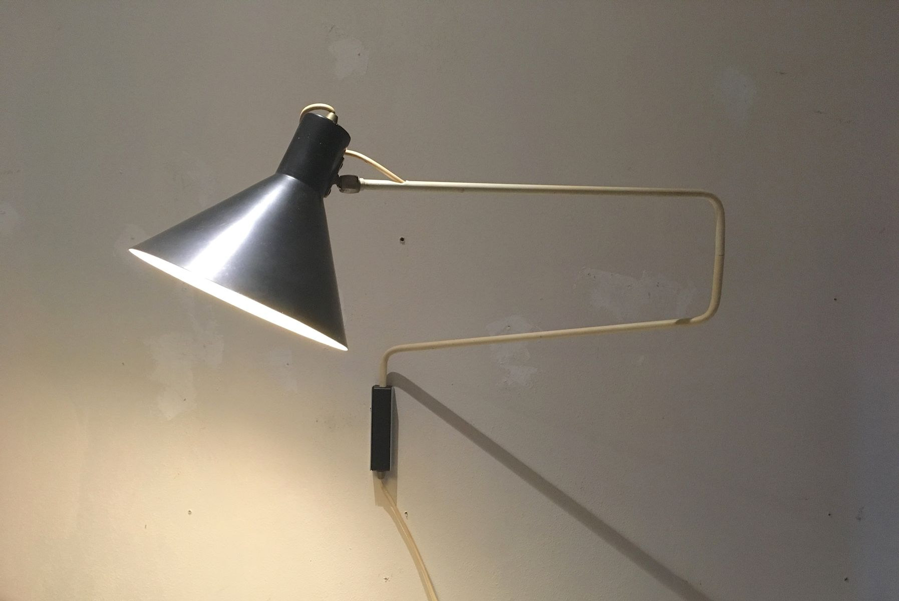 Vintage Black Paperclip Lamp by J.J.M. Hoogervorst for Anvia for ...