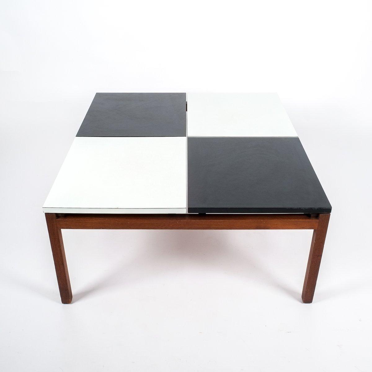 Table basse noire et blanche par lewis butler pour knoll 1960s en vente sur - Table basse noire et blanche ...