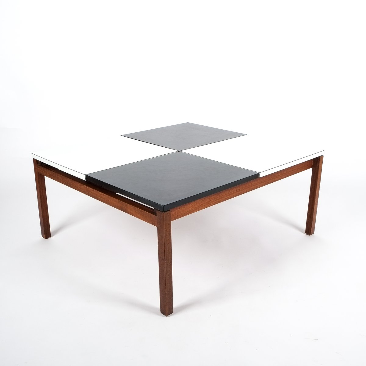 Black White Coffee Table By Lewis Butler For Knoll 1960s