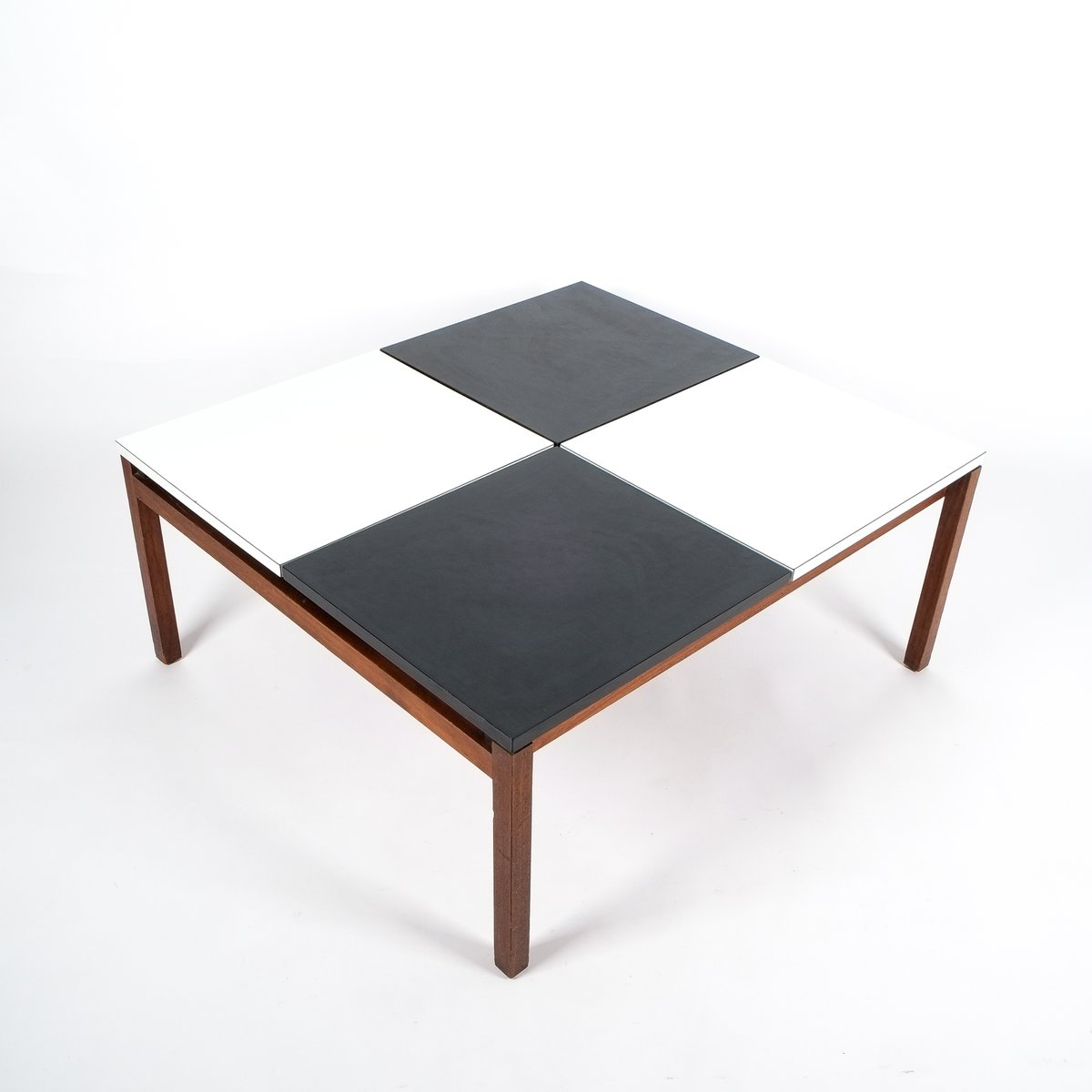 black u0026 white coffee table by lewis butler for knoll 1960s for