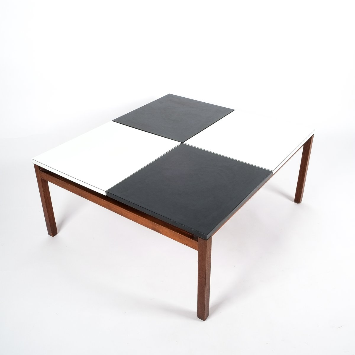 Black White Coffee Table By Lewis Butler For Knoll 1960s For Sale At Pamono