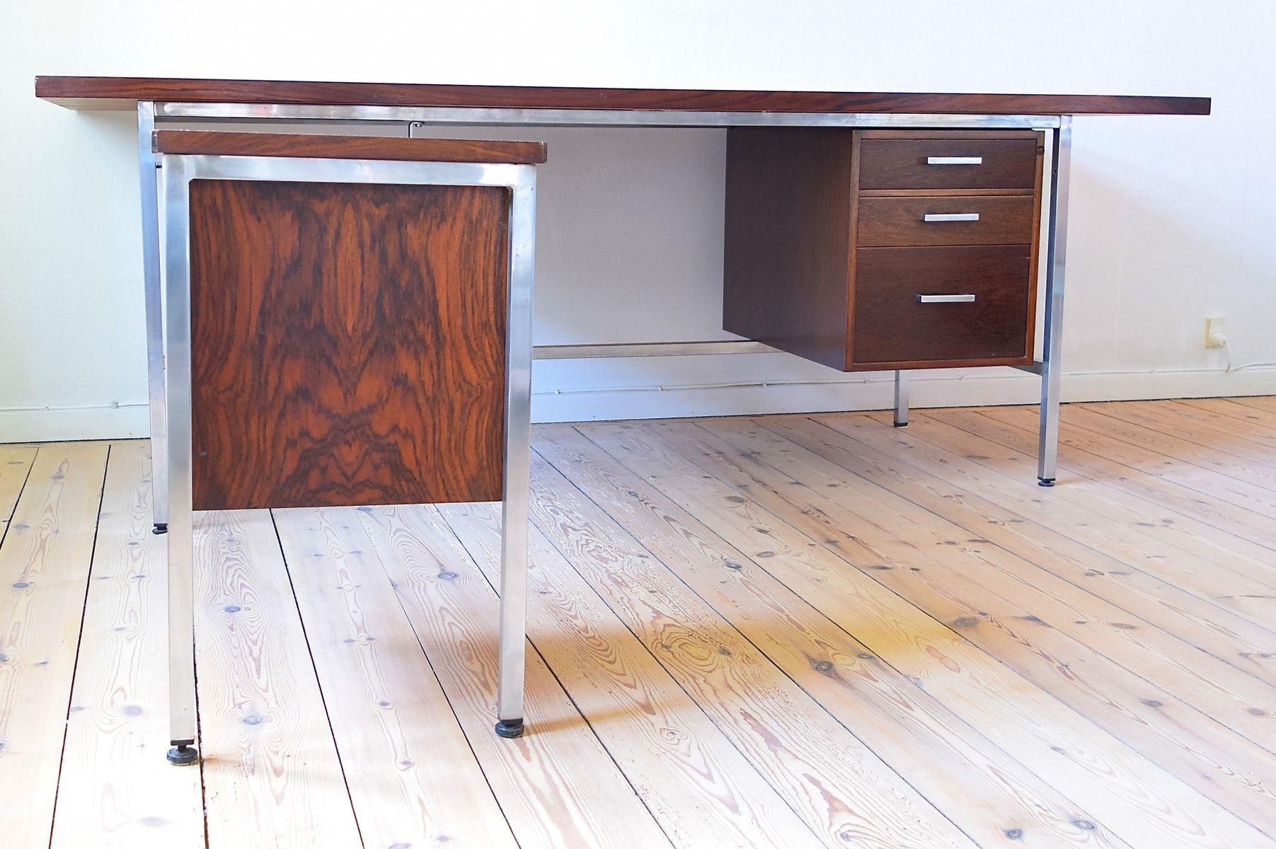 d nischer chrom palisander schreibtisch 1960er bei. Black Bedroom Furniture Sets. Home Design Ideas