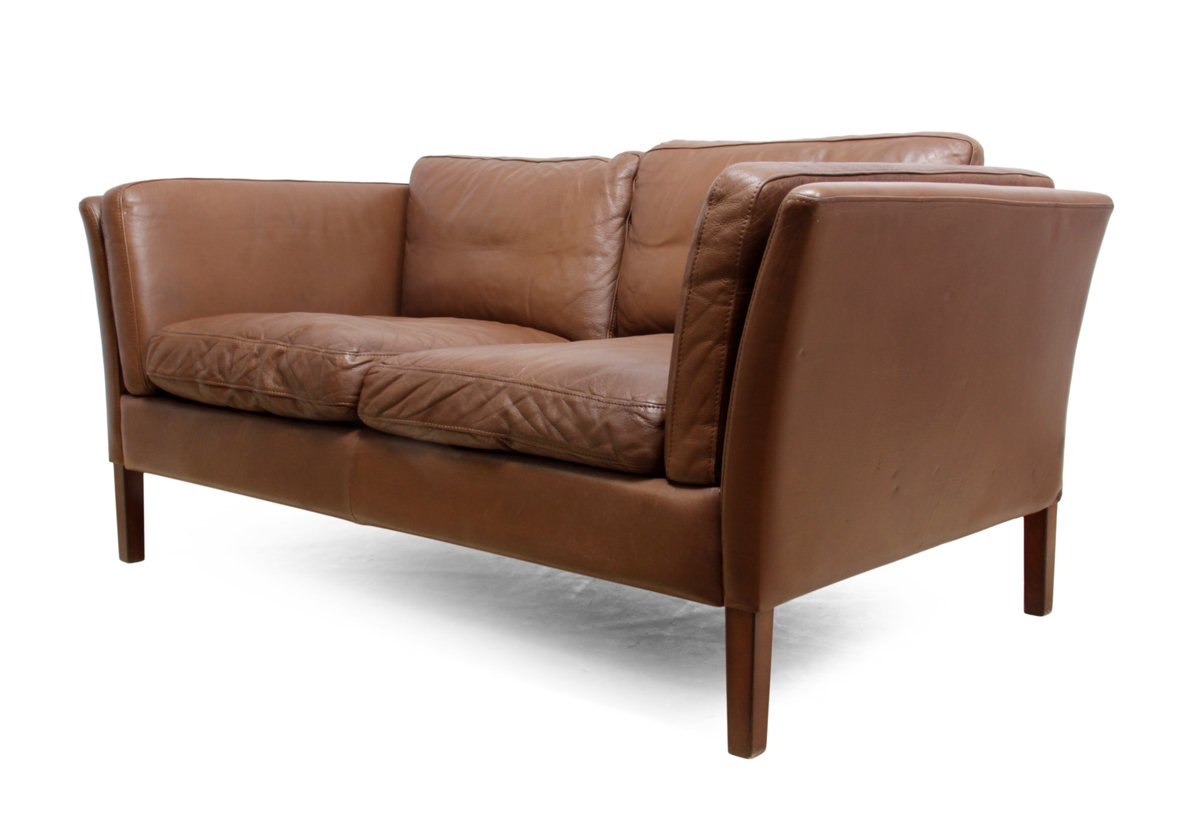 Danish two seater leather sofa 1960s for sale at pamono for Leather sofa 7 seater
