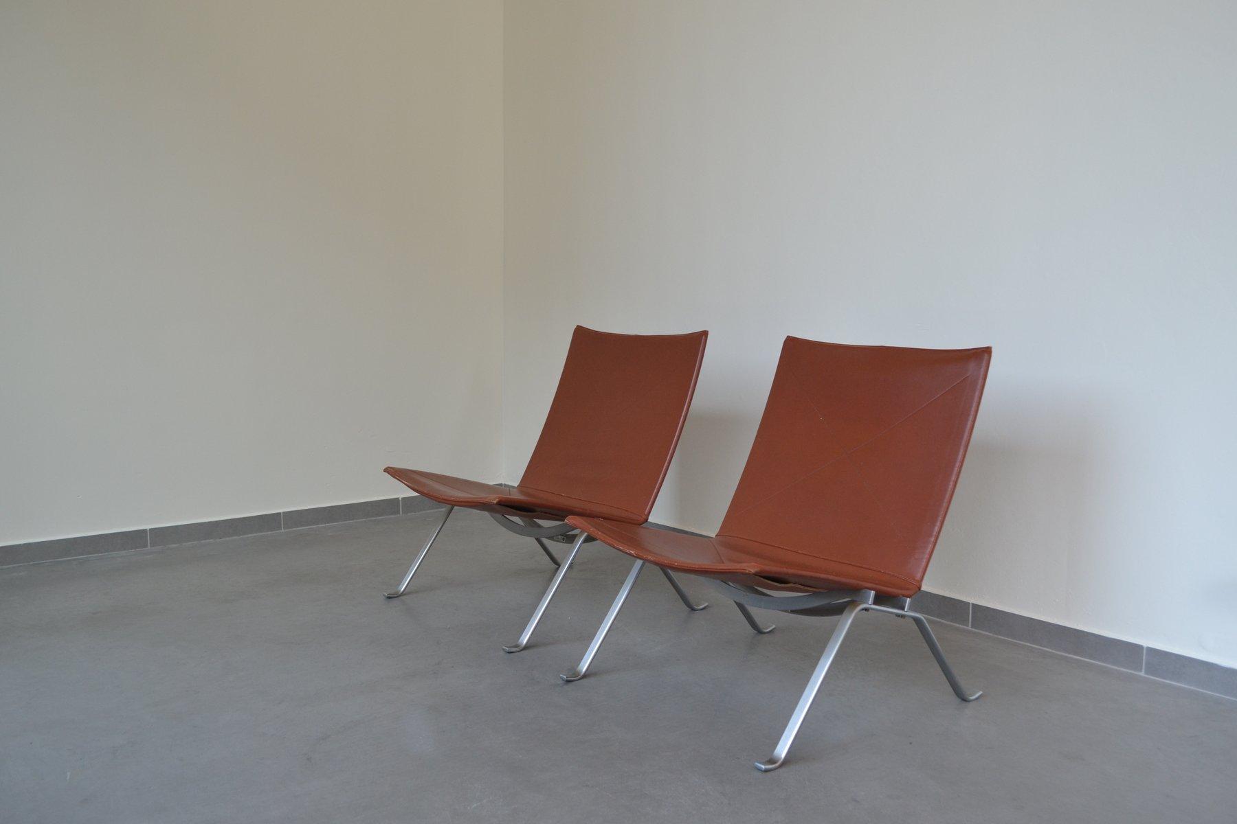 pk22 st hle von poul kjaerholm f r fritz hansen 1989 bei. Black Bedroom Furniture Sets. Home Design Ideas