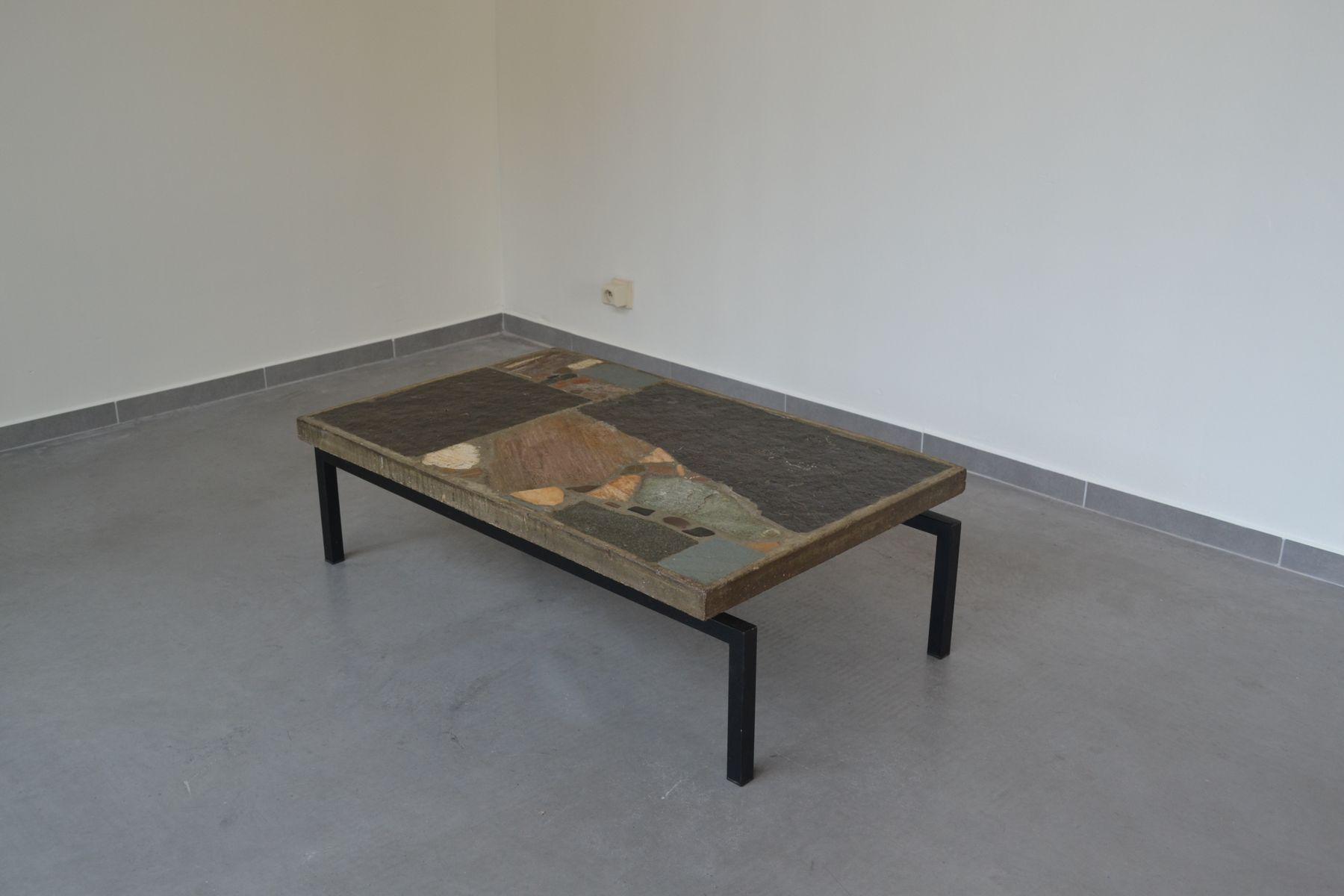 Slate Stone Coffee Table By Paul Kingma 1964 For Sale At Pamono