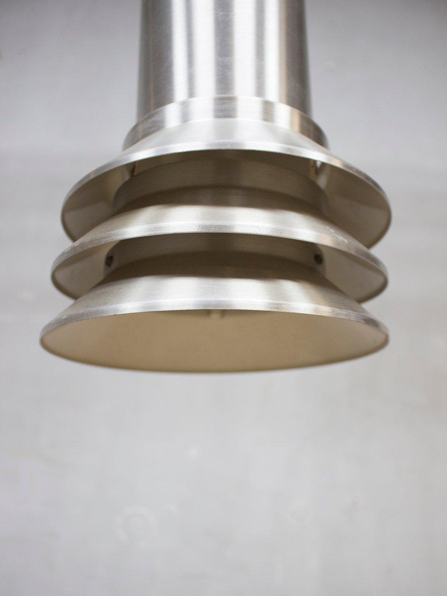 mid century modern aluminum pendant light from hans agne