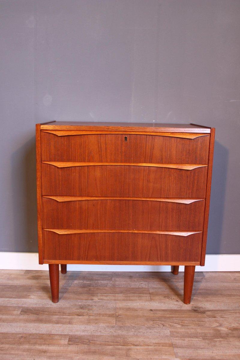 d nische mid century teak kommode mit vier schubladen 1960er bei pamono kaufen. Black Bedroom Furniture Sets. Home Design Ideas