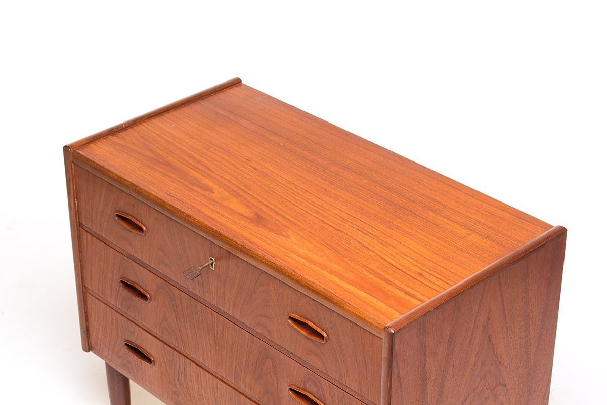 Vintage Danish Teak Chest Of Drawers For Sale At Pamono