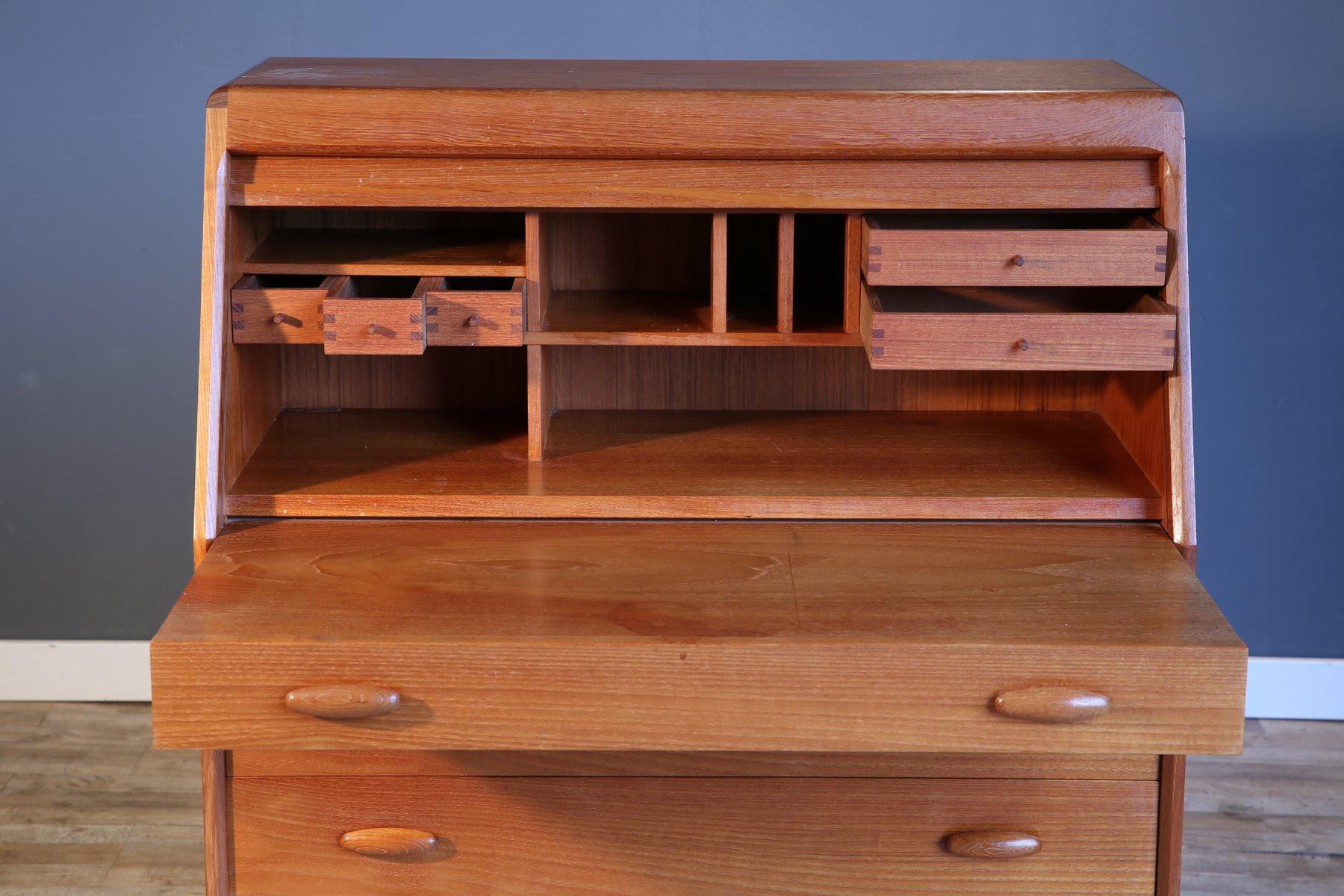 vintage secretaire from dyrlund for sale at pamono. Black Bedroom Furniture Sets. Home Design Ideas