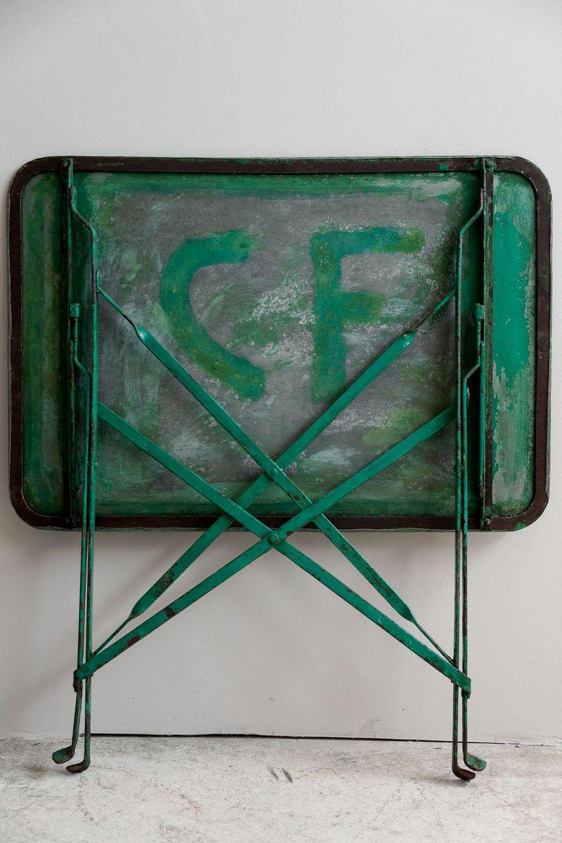 franz sischer garten klapptisch aus metall 1930er bei. Black Bedroom Furniture Sets. Home Design Ideas