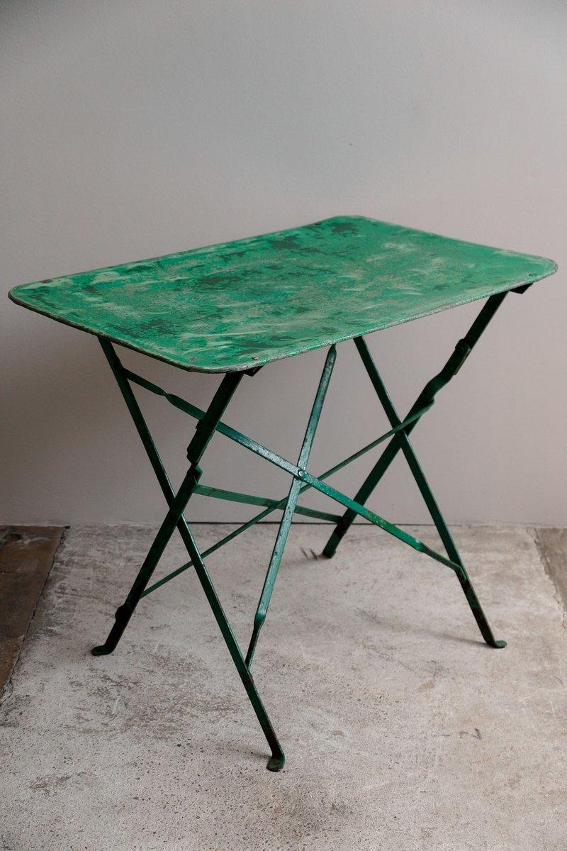 franz sischer garten klapptisch aus metall 1930er bei pamono kaufen. Black Bedroom Furniture Sets. Home Design Ideas