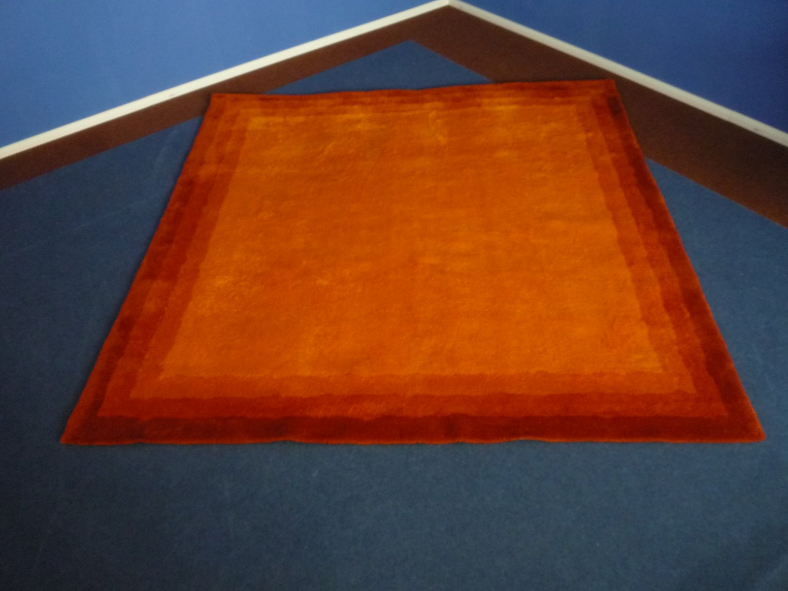 Mid Century Red And Orange Wool Rug, 1960s
