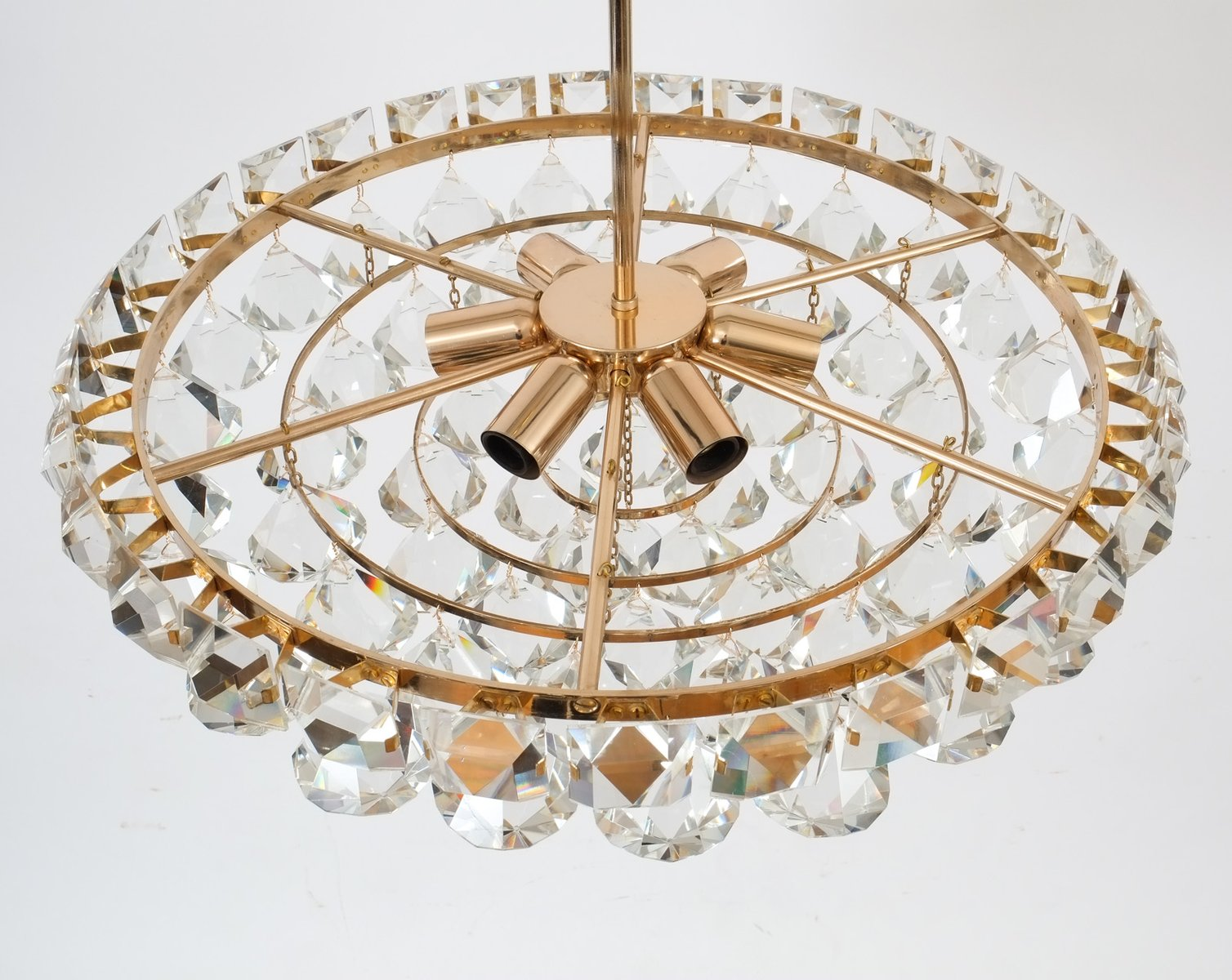 Vintage Chandelier with Pear-Shaped Crystals from Bakalowits ...