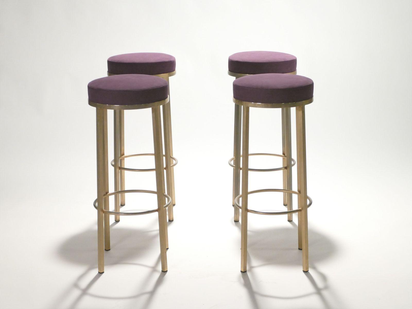 messing barhocker von maison romeo 1970er 4er set bei. Black Bedroom Furniture Sets. Home Design Ideas