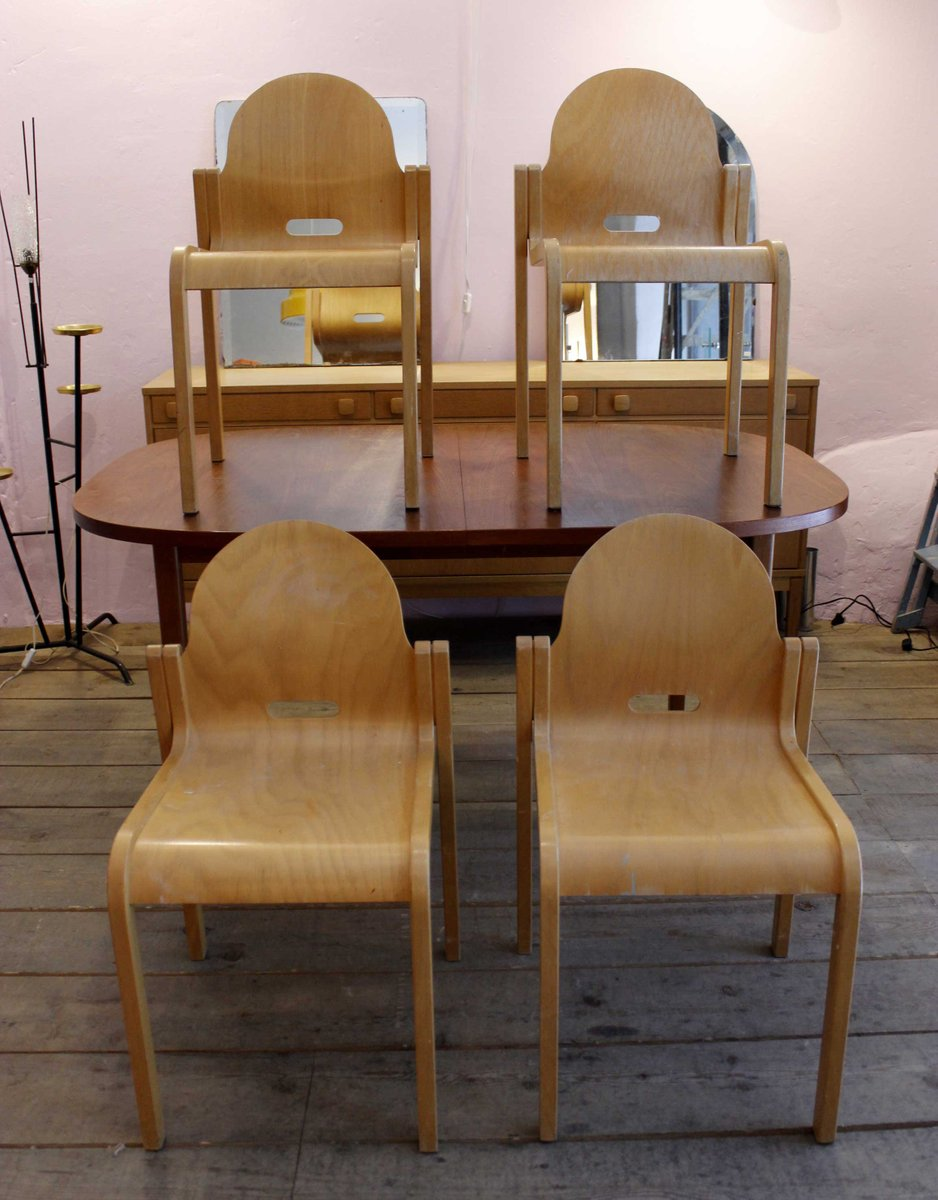 Mid Century Stacking Chairs 1950s Set Of 4 For Sale At