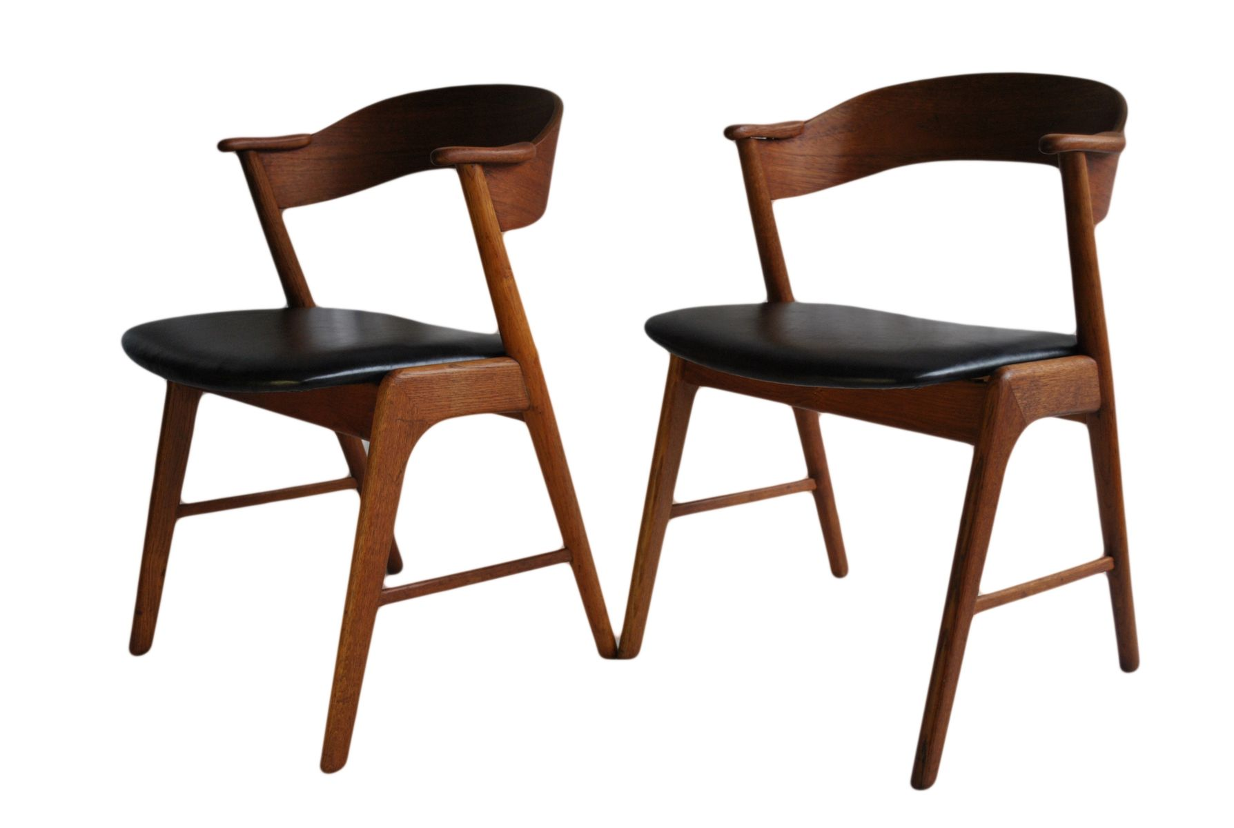 Mid Century Danish Model 32 Chairs By Kai Kristiansen For Schou Andersen,  1960s, Set Of 2