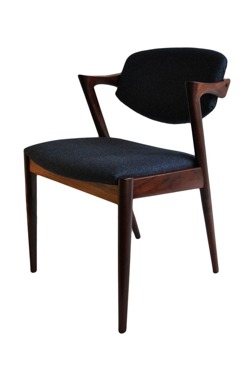 Chaises de salon mid century en palissandre par kai for Chaise pour salon