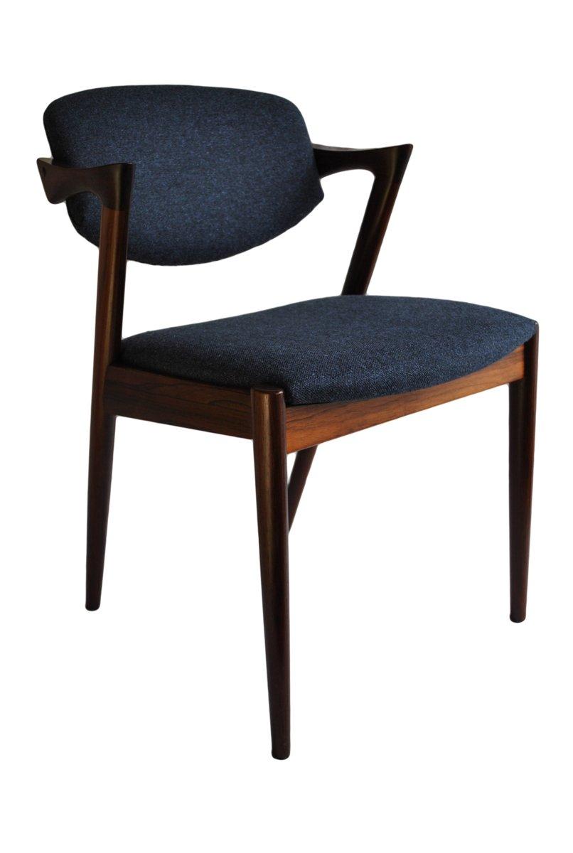 chaises de salon mid century en palissandre par kai kristiansen pour schou andersen 1960s set. Black Bedroom Furniture Sets. Home Design Ideas