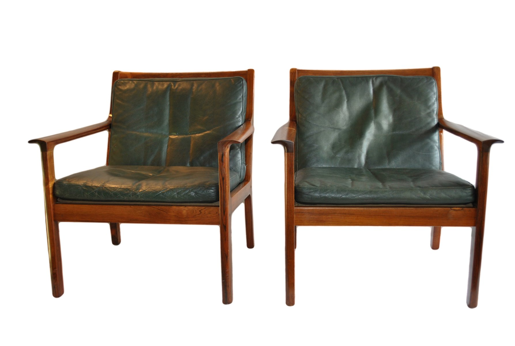 Mid Century Rosewood Easy Chairs By Frederik Kayser For