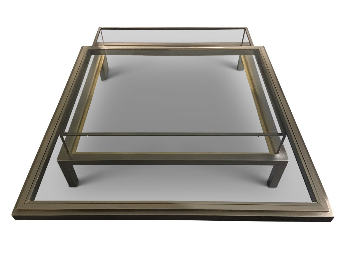 Sliding Top Coffee Table From Maison Jansen 1970s For