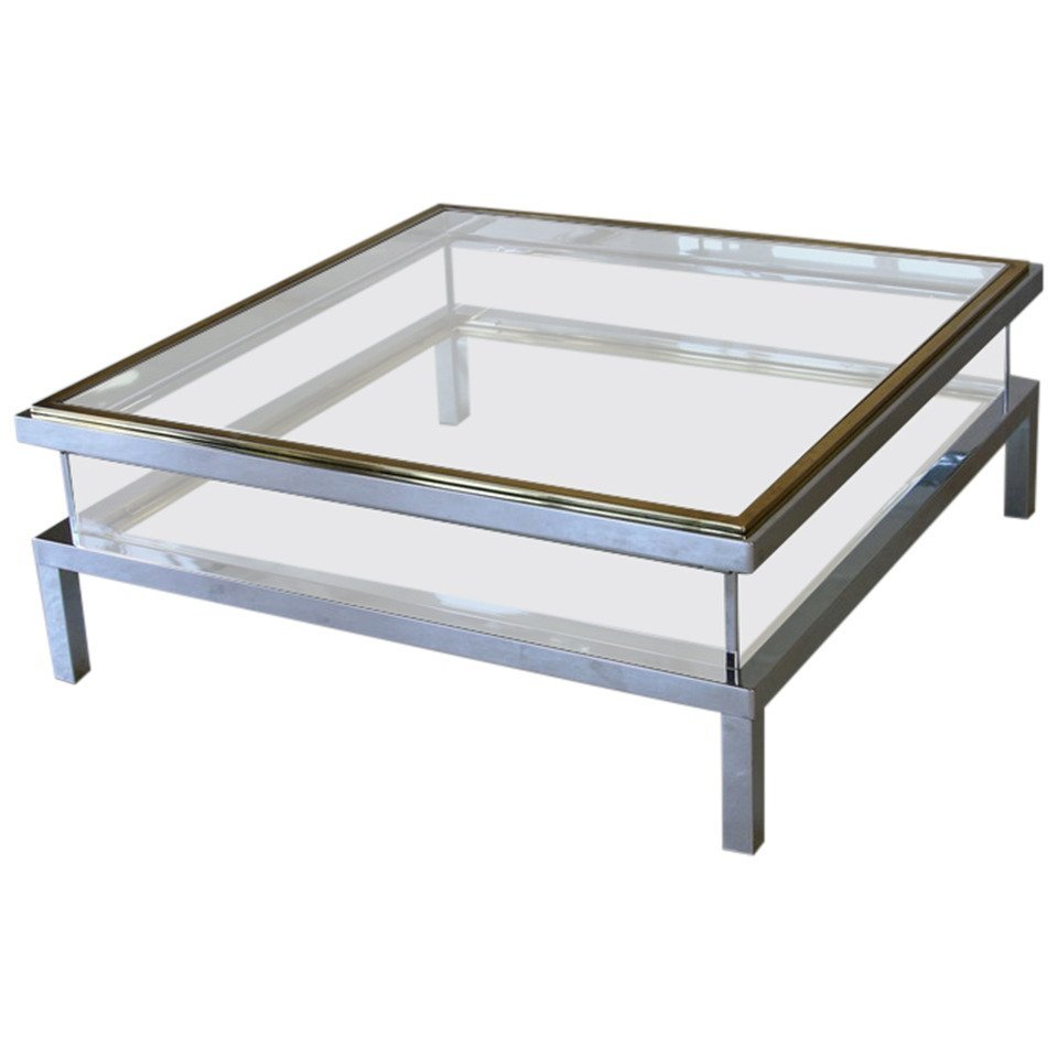 Sliding Top Coffee Table From Maison Jansen 1970s For Sale At Pamono