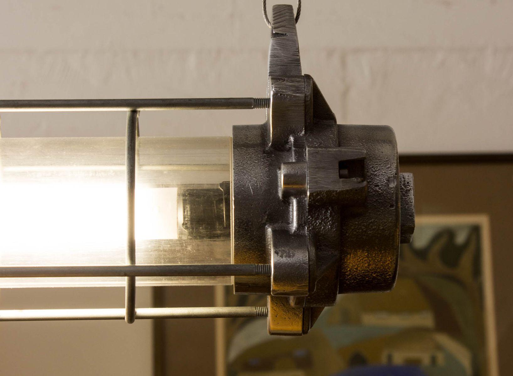 Lampada industriale in alluminio in vendita su Pamono
