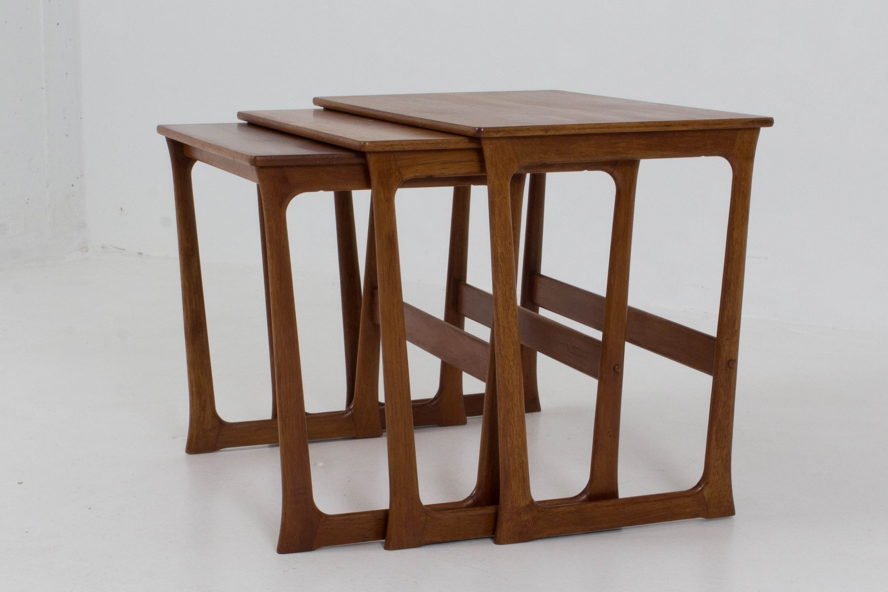 midcentury danish modern nesting tables by johannes andersen  - price per set