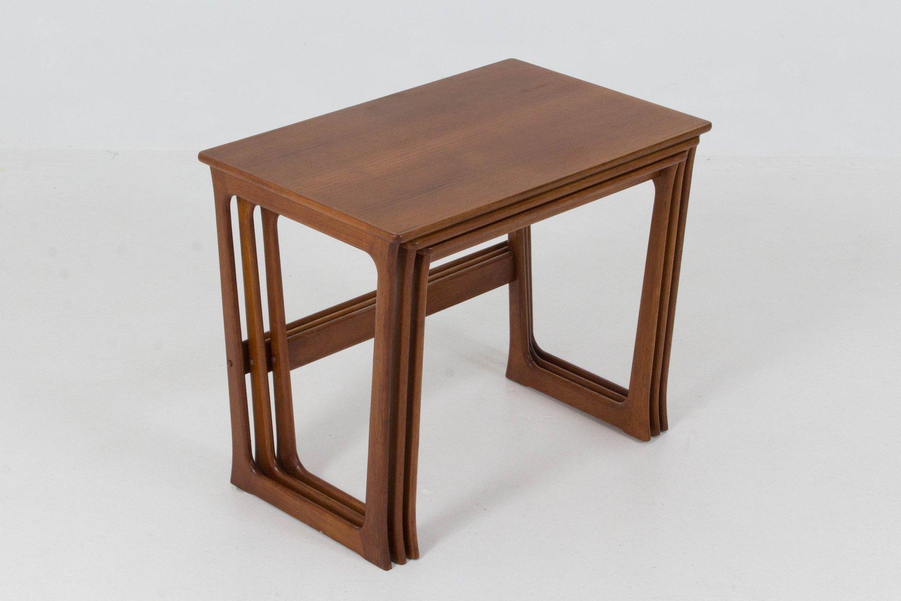 Mid Century Danish Modern Nesting Tables By Johannes Andersen, 1960s