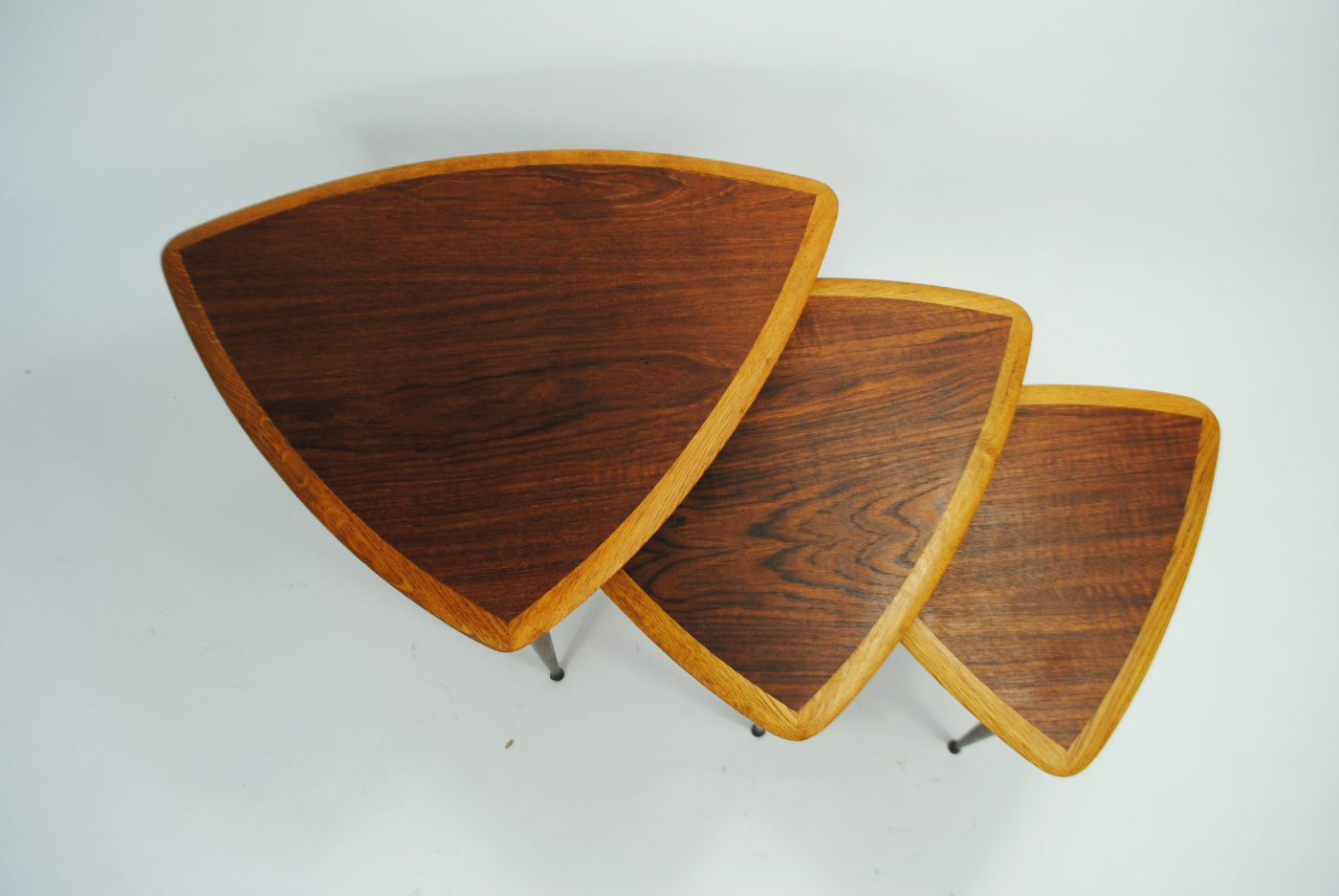 Danish Teak amp Oak Nesting Tables 1950s For Sale At Pamono
