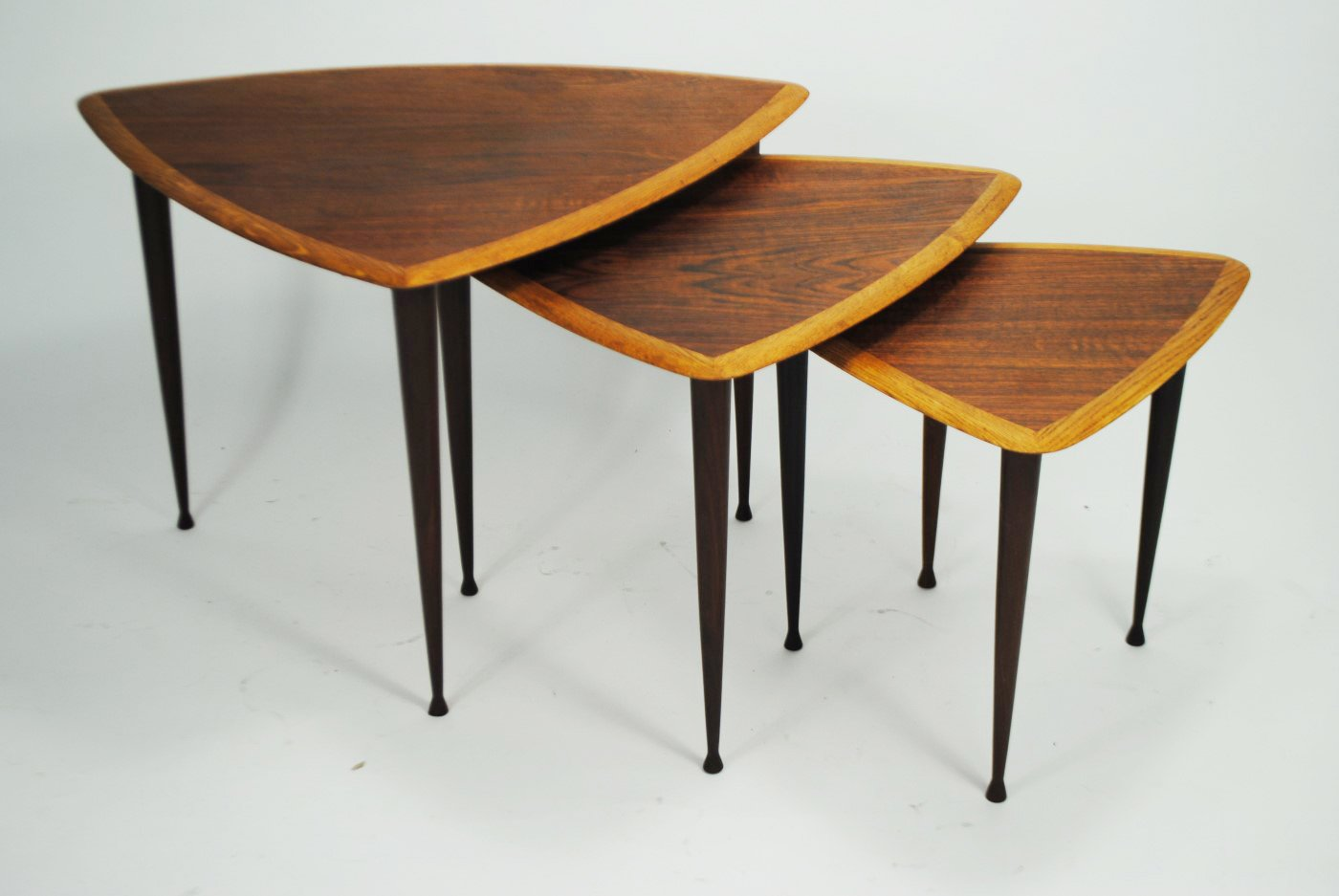 Danish Teak U0026 Oak Nesting Tables, 1950s