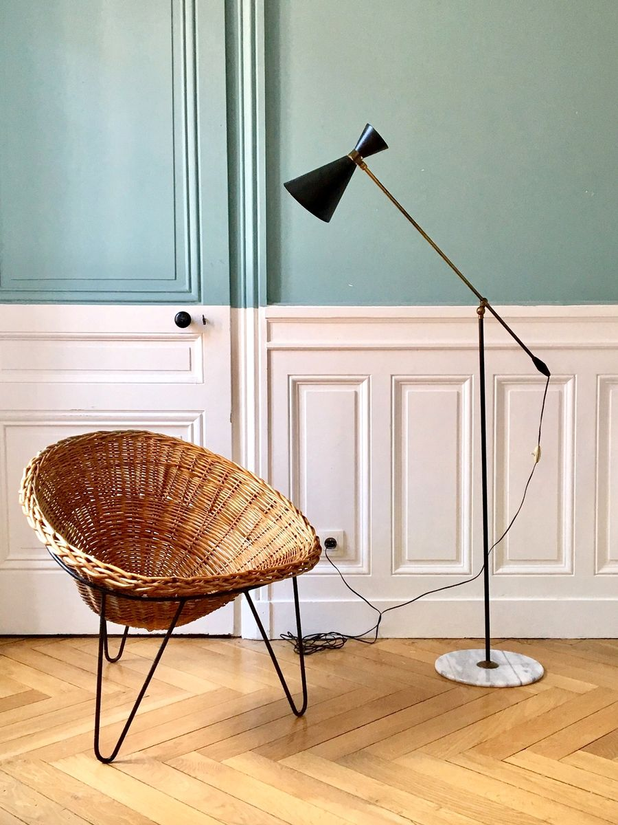 italienische stand leselampe 1950er bei pamono kaufen. Black Bedroom Furniture Sets. Home Design Ideas