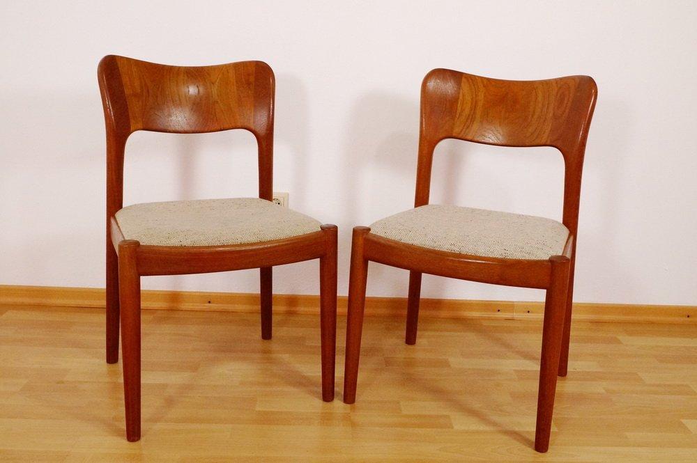 d nische teak st hle von niels kofoed f r hornslet m belfabrik 1960er 2er set bei pamono kaufen. Black Bedroom Furniture Sets. Home Design Ideas