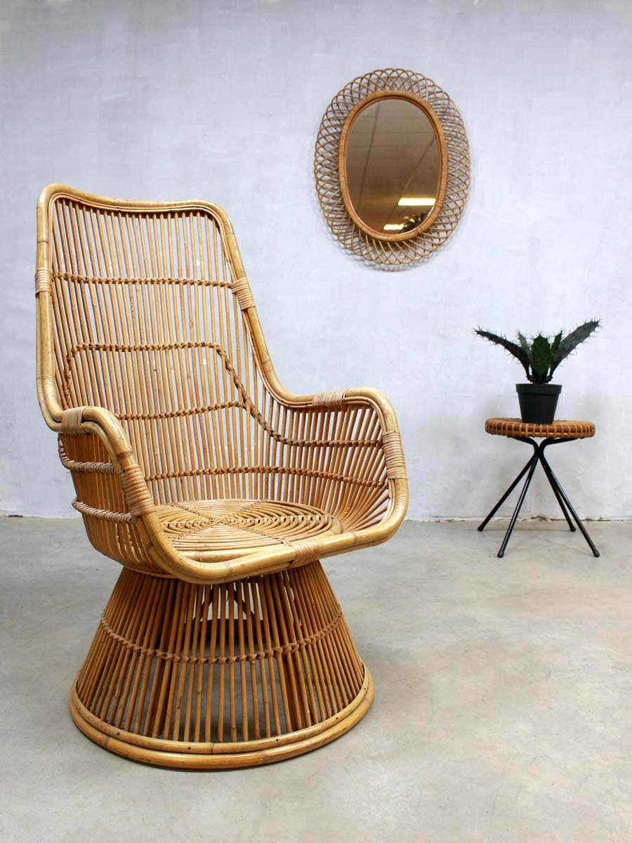 mid century peacock rattan sessel bei pamono kaufen. Black Bedroom Furniture Sets. Home Design Ideas
