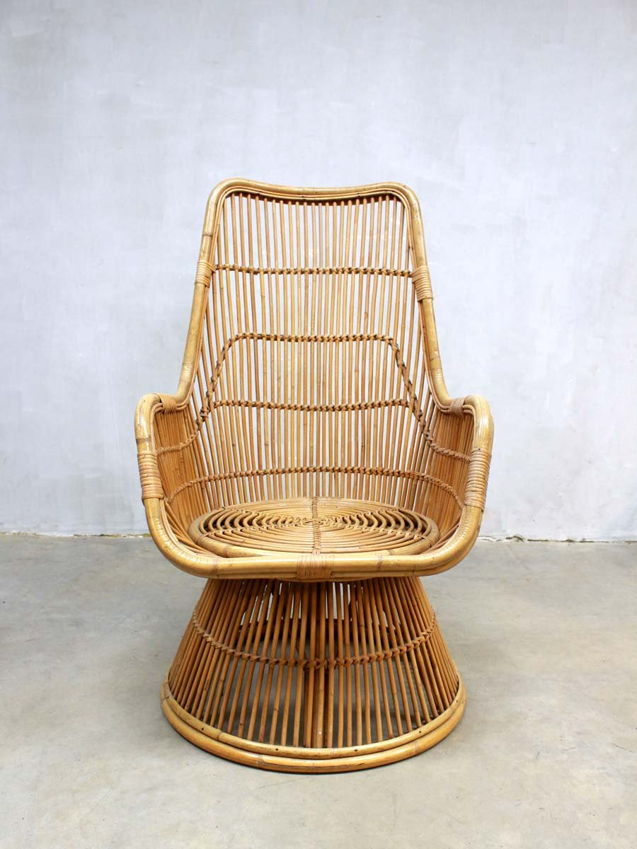 mid century peacock rattan lounge chair for sale at pamono. Black Bedroom Furniture Sets. Home Design Ideas