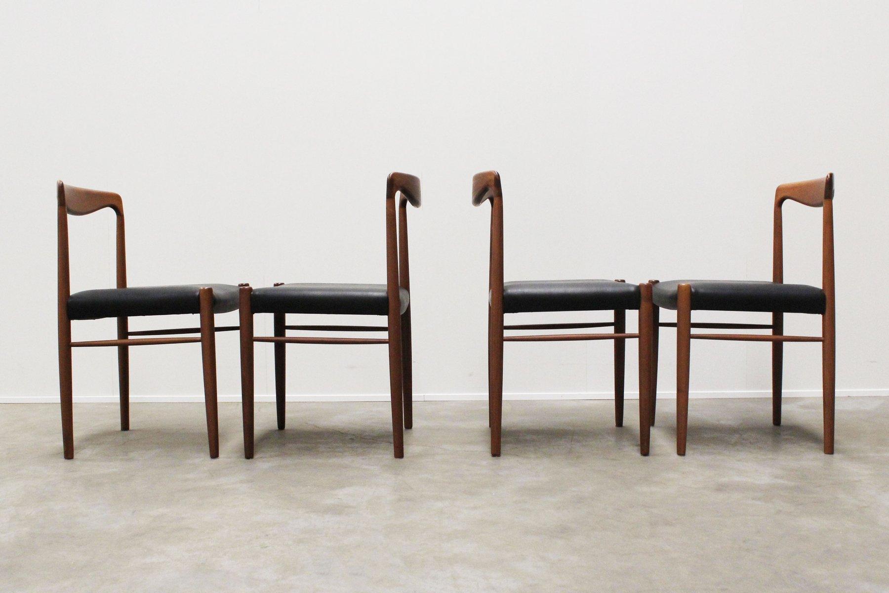 Mid Century Dining Chairs by Kalderoni Rheydt for Wellner Mobel