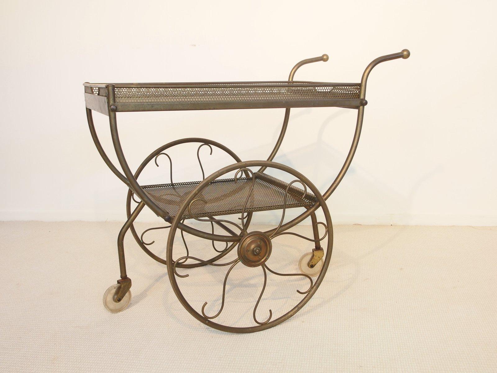 vintage messing servierwagen von josef frank f r svenskt. Black Bedroom Furniture Sets. Home Design Ideas