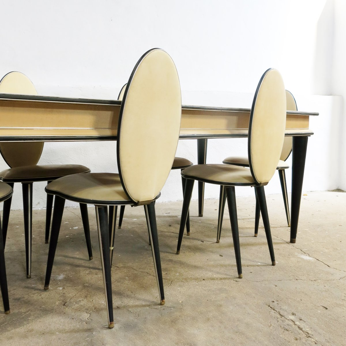 Mid Century Dining Set By Umberto Mascagni For Harrods 1950s Of 7