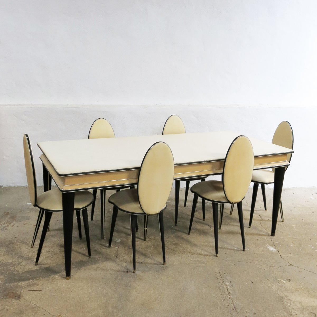 Mid Century Dining Set By Umberto Mascagni For Harrods 1950s Of 7 Sale At Pamono