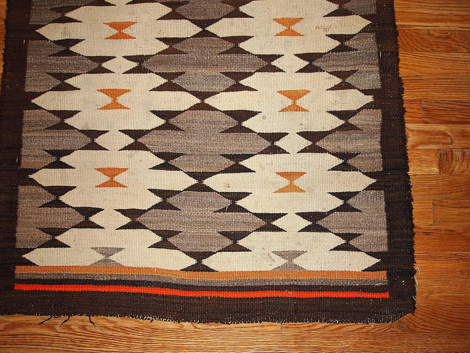 Antique Native American Navajo Handmade Rug 1880s For