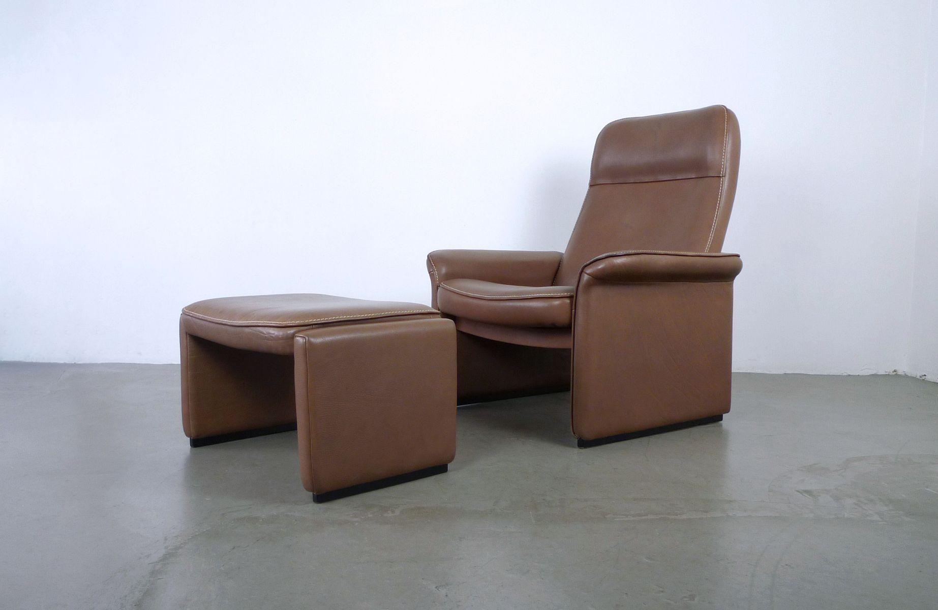 ds 50 sessel mit ottoman von de sede 1970er bei pamono kaufen. Black Bedroom Furniture Sets. Home Design Ideas